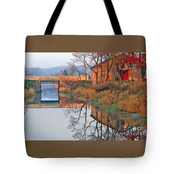 Sunrise On The I And  M Canal Tote Bag