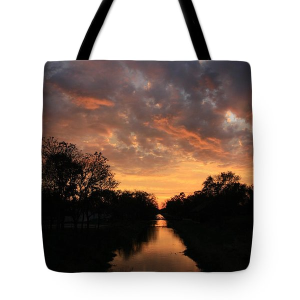 Sunrise On The Illinois Michigan Canal Tote Bag