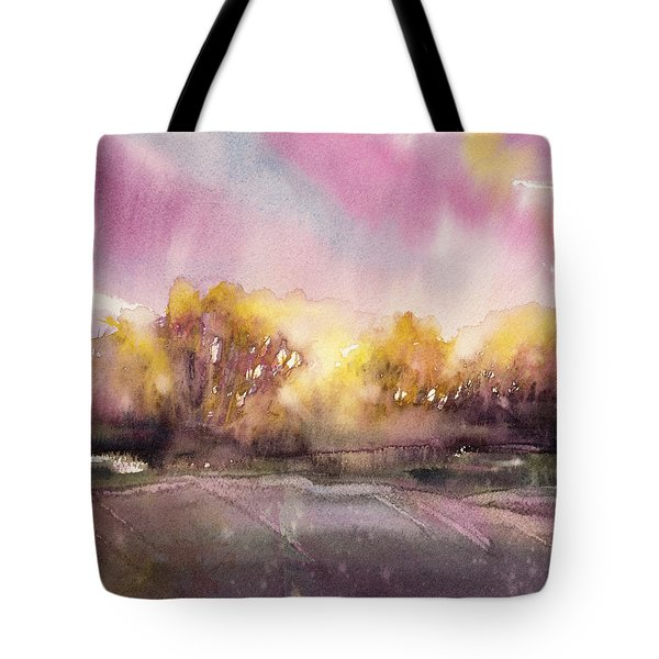 Sunrise On The Lane Tote Bag