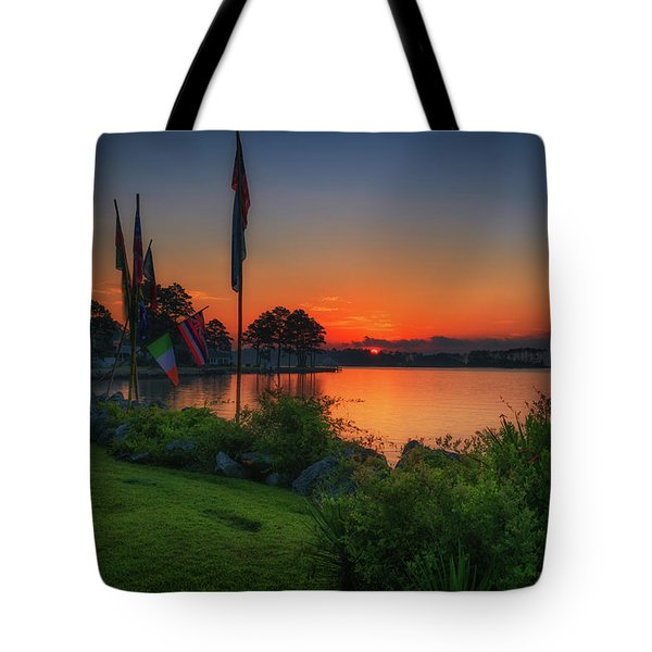 Tote Bag featuring the photograph Sunrise On The Neuse 2 by Cindy Lark Hartman
