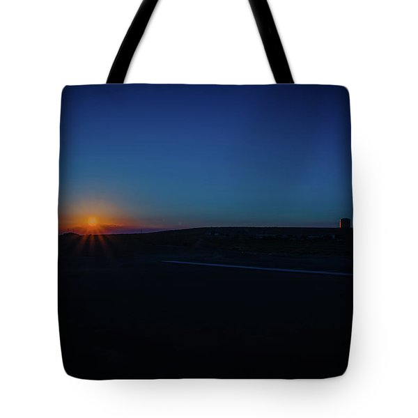 Sunrise On The Reservation Tote Bag