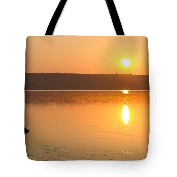 Sunrise On The Rocks Of Branch Lake - Maine Tote Bag