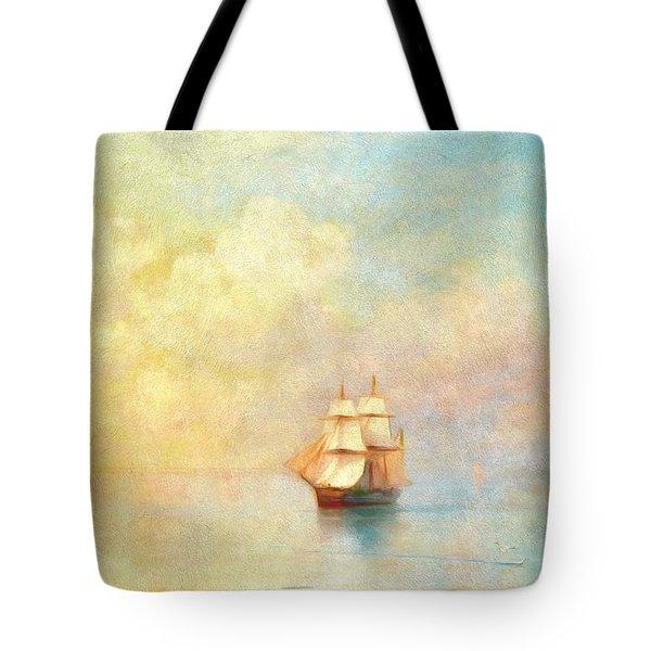 Sunrise On The Sea Tote Bag