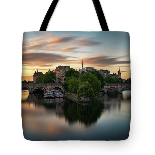 Sunrise On The Seine Tote Bag