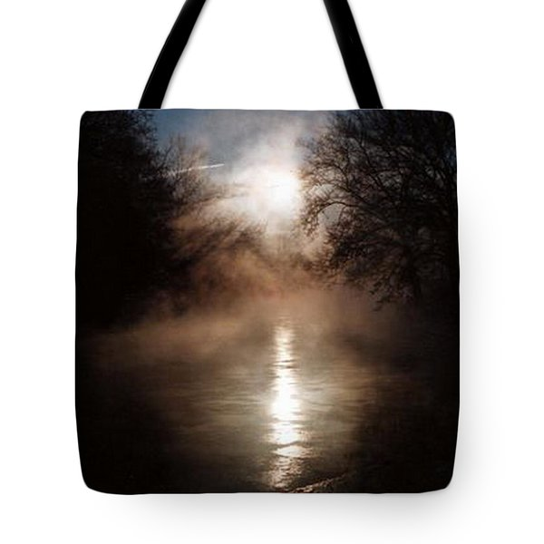 Sunrise On The Tulpehocken Tote Bag by Rebecca Smith