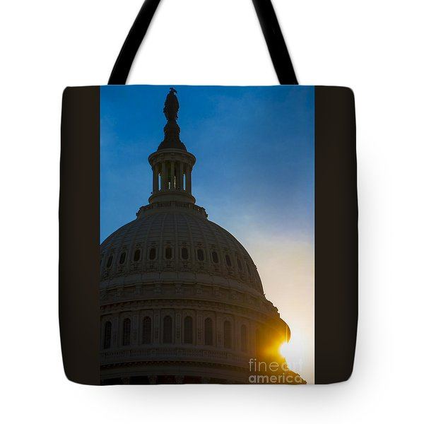 Sunrise On The United States Capitol Building  Tote Bag