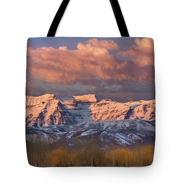 Sunrise On Timpanogos Tote Bag