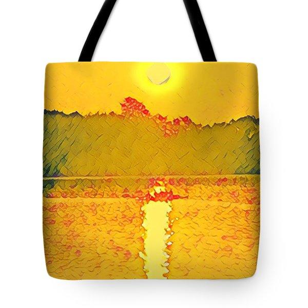 Sunrise On Town Lake Tote Bag