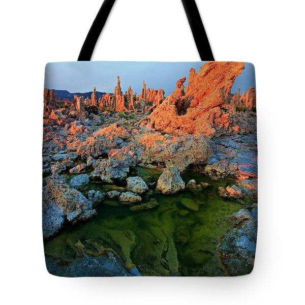 Sunrise On Tufa 2 Tote Bag