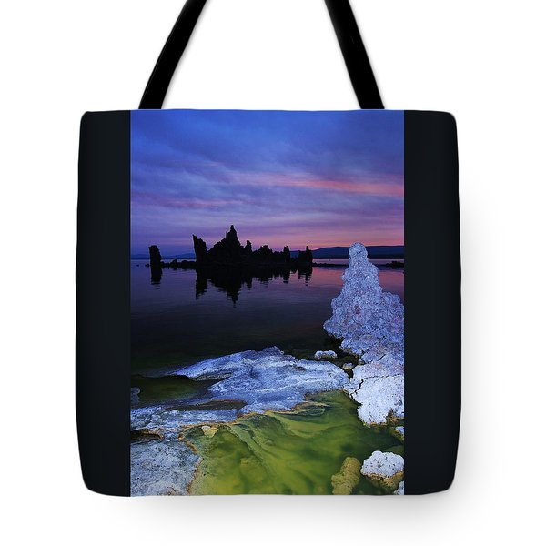 Tote Bag featuring the photograph Sunrise On Tufa  by Sean Sarsfield