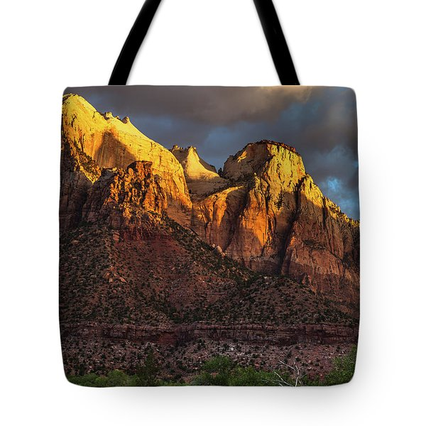 Sunrise On Zion National Park Tote Bag