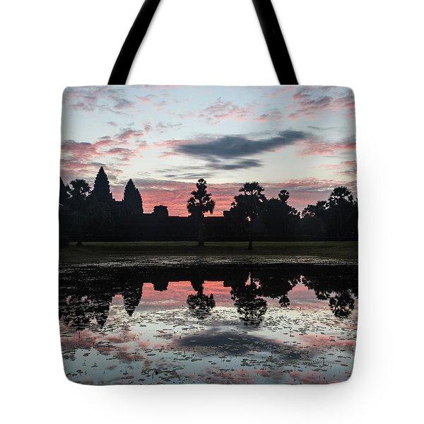 Sunrise Over Angkor Wat Tote Bag