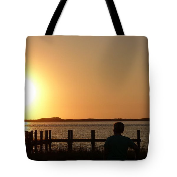 Tote Bag featuring the photograph Sunrise Over Assateaque by Donald C Morgan