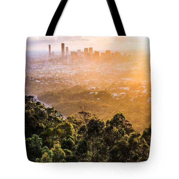 Sunrise Over Brisbane Tote Bag