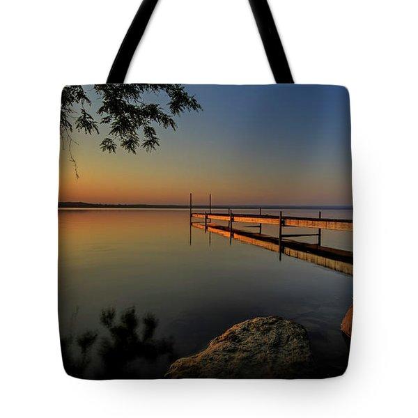 Sunrise Over Cayuga Lake Tote Bag