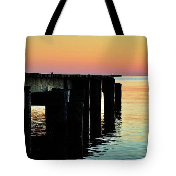 Sunrise Over Chesapeake Bay Tote Bag