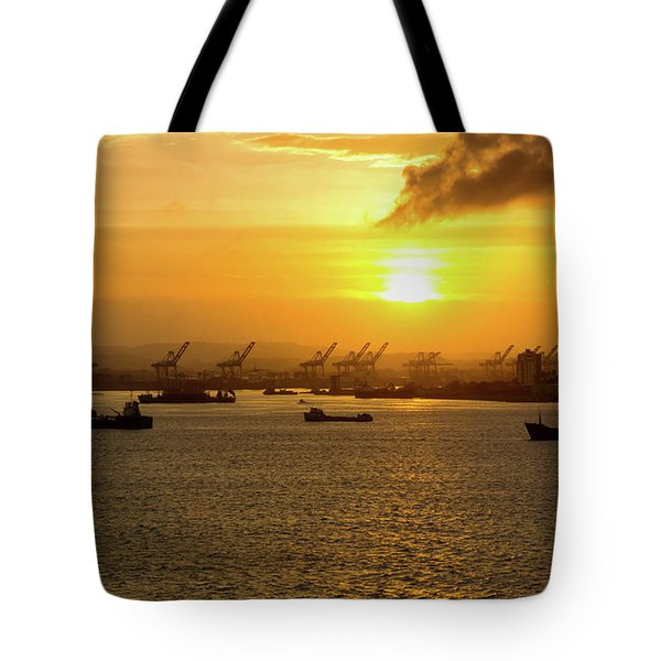 Sunrise Over Colon Tote Bag