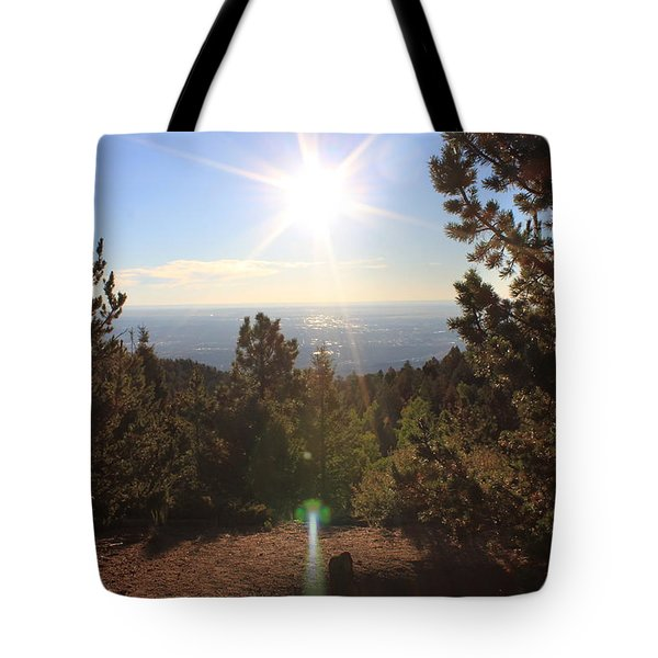 Sunrise Over Colorado Springs Tote Bag by Christin Brodie