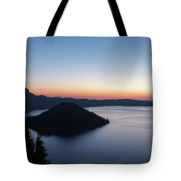 Tote Bag featuring the photograph Sunrise Over Crater Lake by Paul Schultz