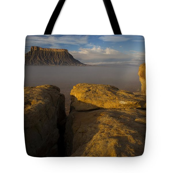 Sunrise Over Factory Butte Tote Bag