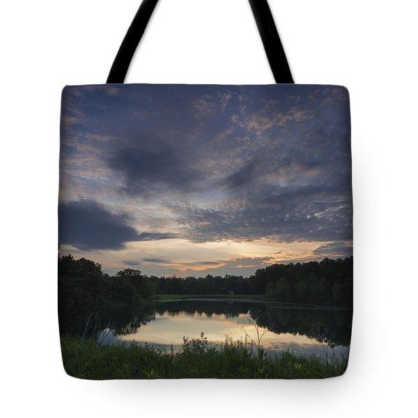 Sunrise Over Indigo Lake Tote Bag