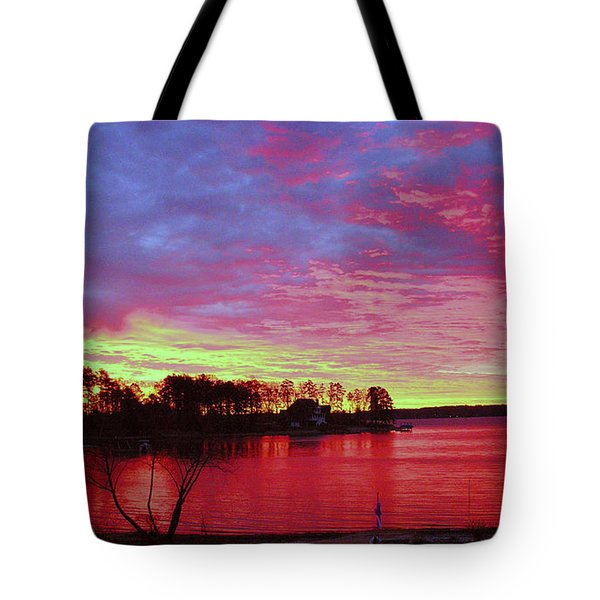 Sunrise Over Lake Murray Tote Bag