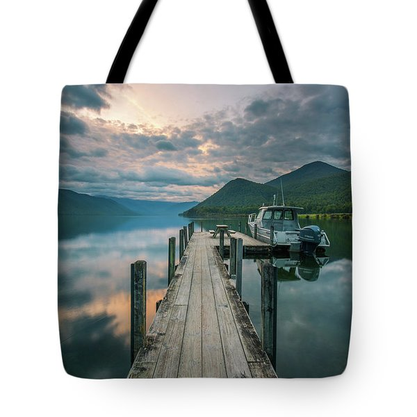 Sunrise Over Lake Rotoroa Tote Bag