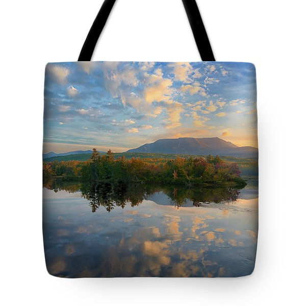 Sunrise Over Mt. Katahdin Tote Bag