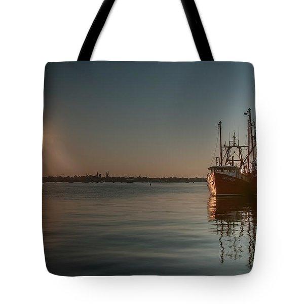 Sunrise Over New Bedford, Tote Bag