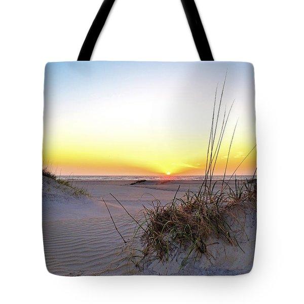 Sunrise Over Pea Island Tote Bag