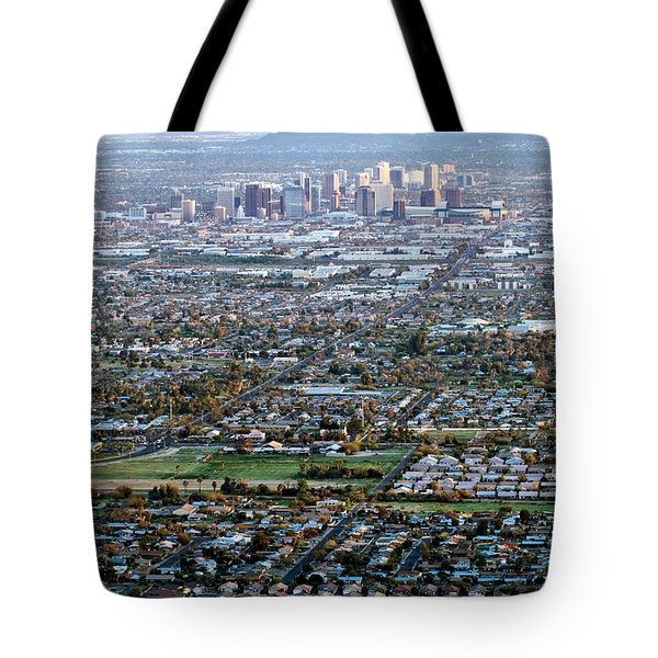 Sunrise Over Phoenix Arizona Tote Bag