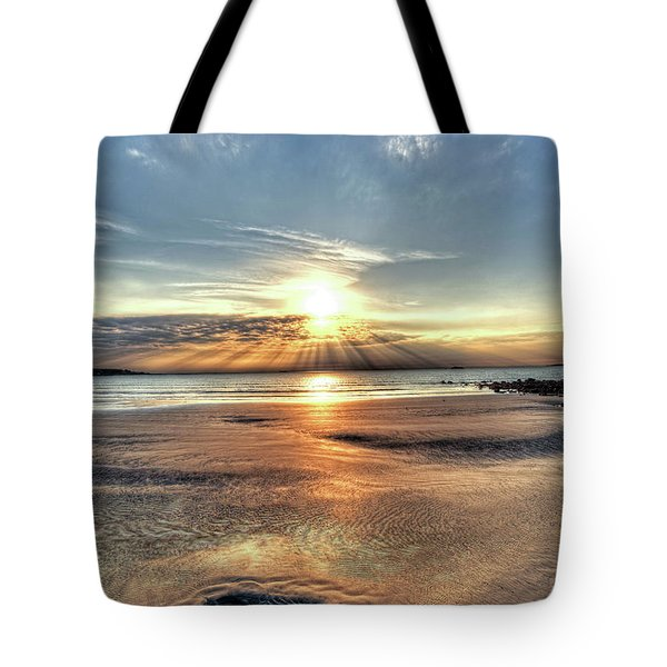Sunrise Over Red Rock Park Lynn Ma Kings Beach Tote Bag