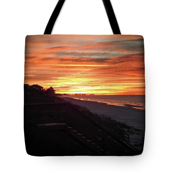 Sunrise Over Santa Rosa Beach Tote Bag
