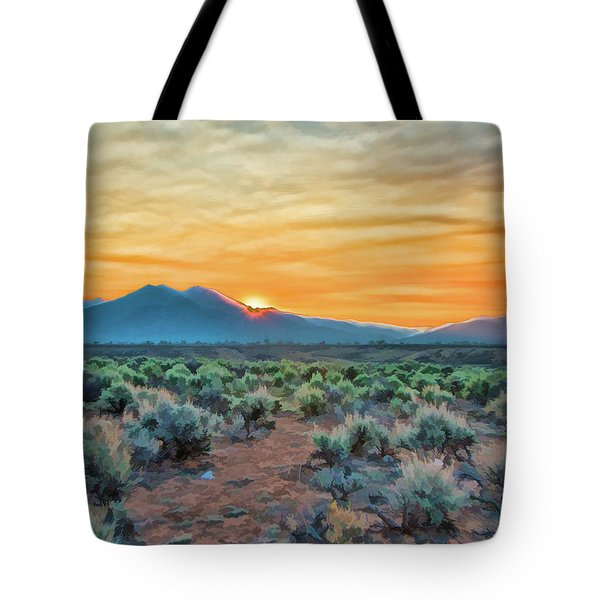 Sunrise Over Taos Tote Bag