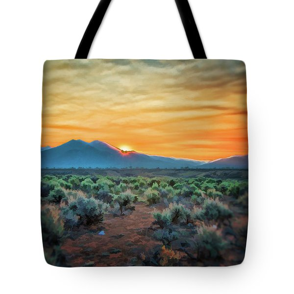Sunrise Over Taos II Tote Bag
