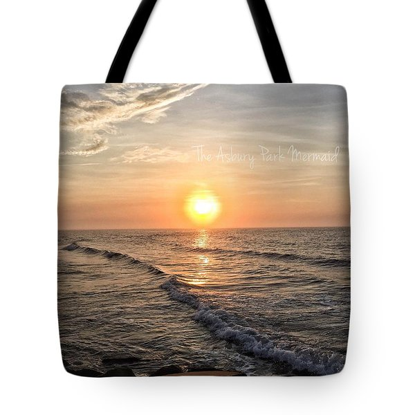 Sunrise Over The Asbury Park Waterfront II Tote Bag