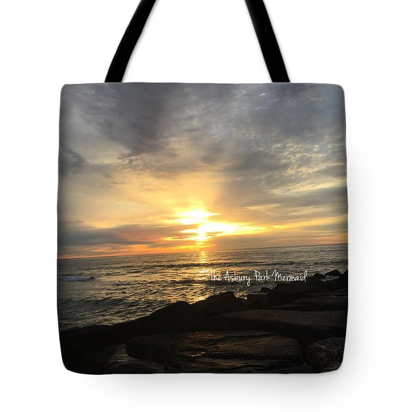 Sunrise Over The Asbury Park Waterfront Tote Bag