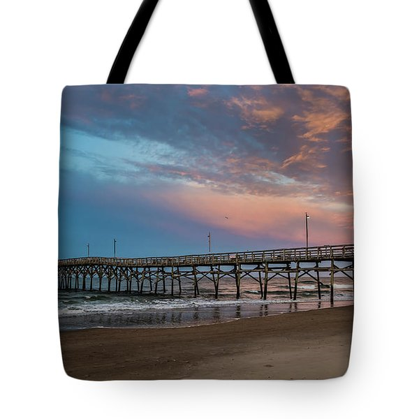 Sunset Over The Atlantic Tote Bag