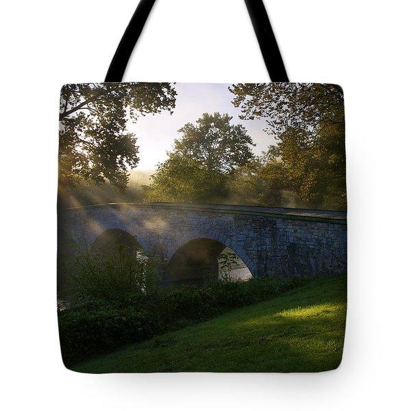 Sunrise Over The Burnside Bridge Tote Bag