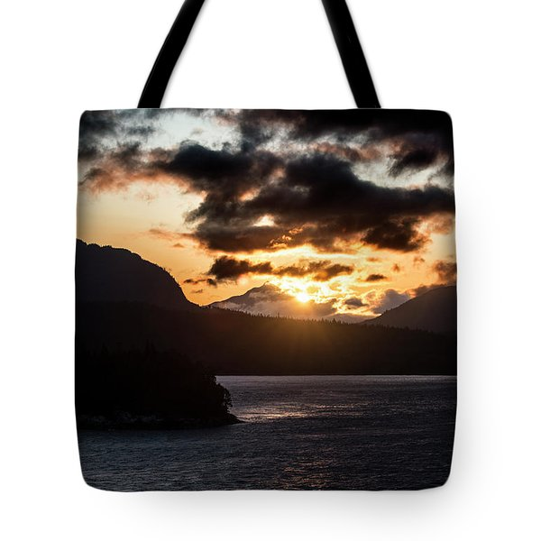 Sunrise Over The Inland Passage Tote Bag