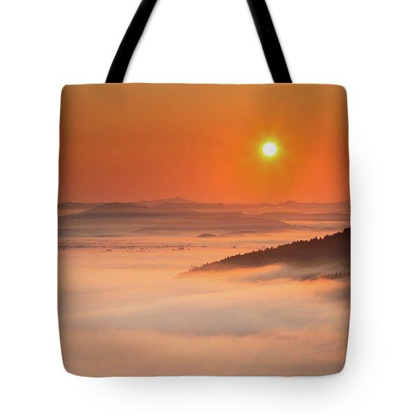 Sunrise Over The Moors Tote Bag