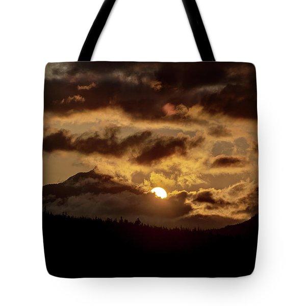 Sunrise Over The Peak Tote Bag