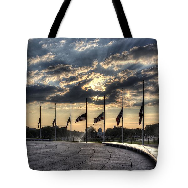 Tote Bag featuring the photograph Sunrise Over The U. S. Capitol by ELDavis Photography
