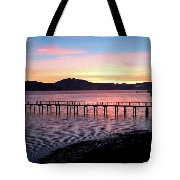 Sunrise Over Tomales Bay Tote Bag