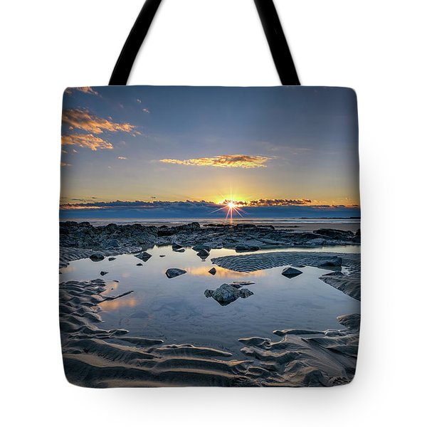 Tote Bag featuring the photograph Sunrise Over Wells Beach by Rick Berk