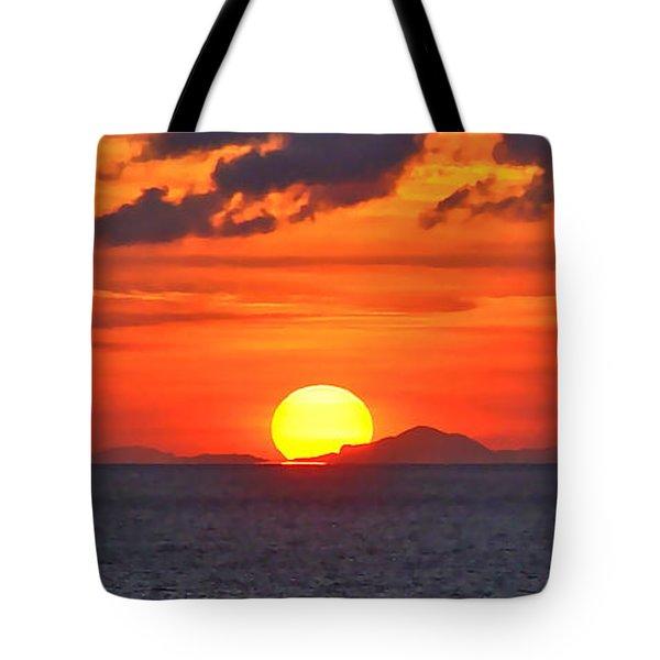 Sunrise Over Western Cuba Tote Bag