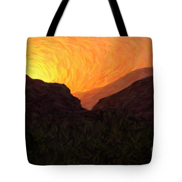 Sunrise Over Zion Tote Bag