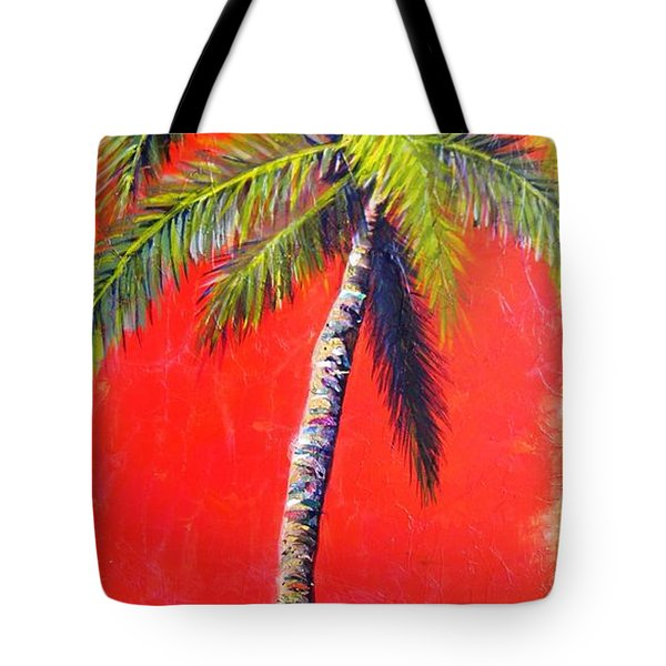 Sunrise Palm Tote Bag