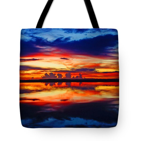 Sunrise Rainbow Reflection Tote Bag