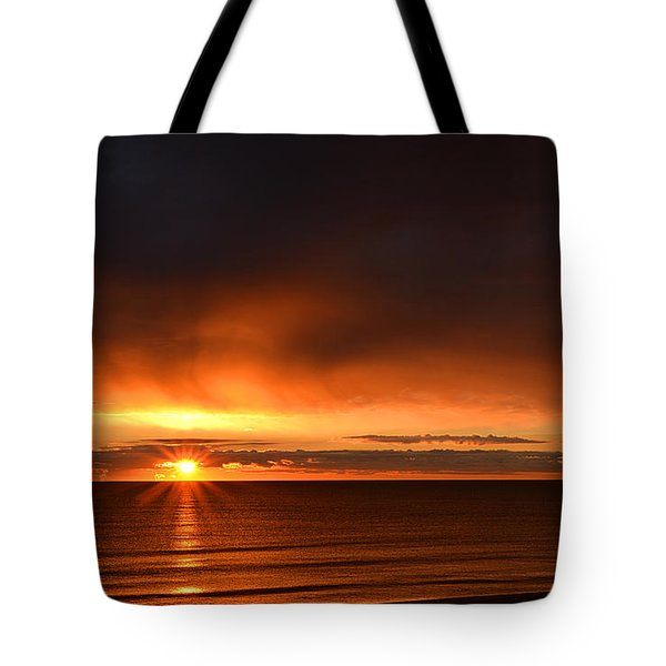 Sunrise Rays Tote Bag